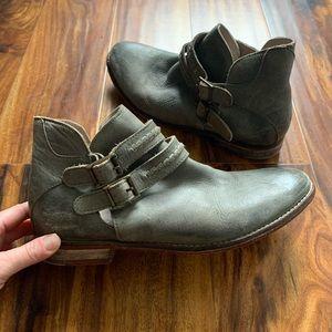 Braeburn ankle boot green boho